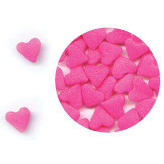 Pink Heart Edible Sugar Quin Sprinkles Cake Decorations