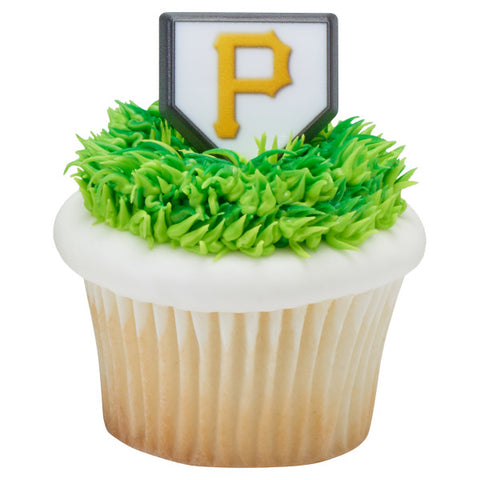 24 MLB Pittsburgh Pirates Cupcake Topper Rings