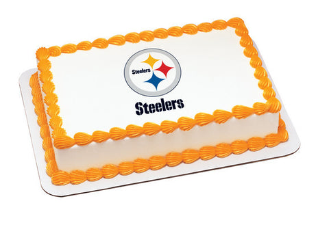 NFL Pittsburgh Steelers Edible Icing Sheet Cake Decor Topper