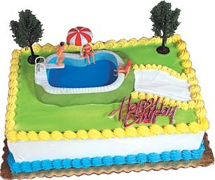 Swimming Pool Cake Decorating Kit Topper