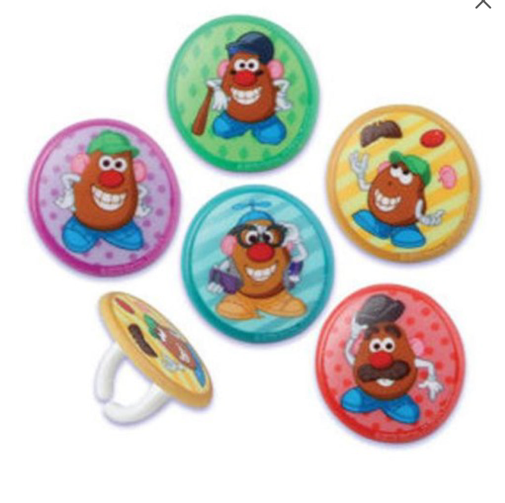 20 Mr. Potato Head Cupcake Rings Cake Decor Toppers Birthday Party Supplies