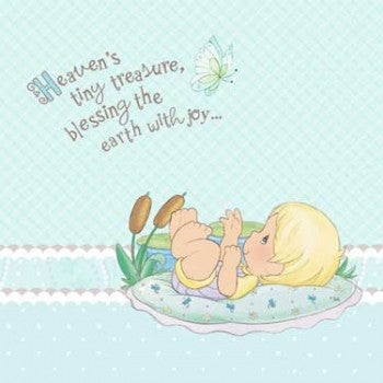 Precious Moments Blue Baby Boy Luncheon Napkins