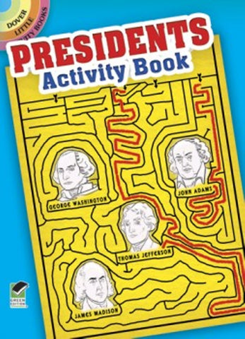 Presidents Little Activity Book