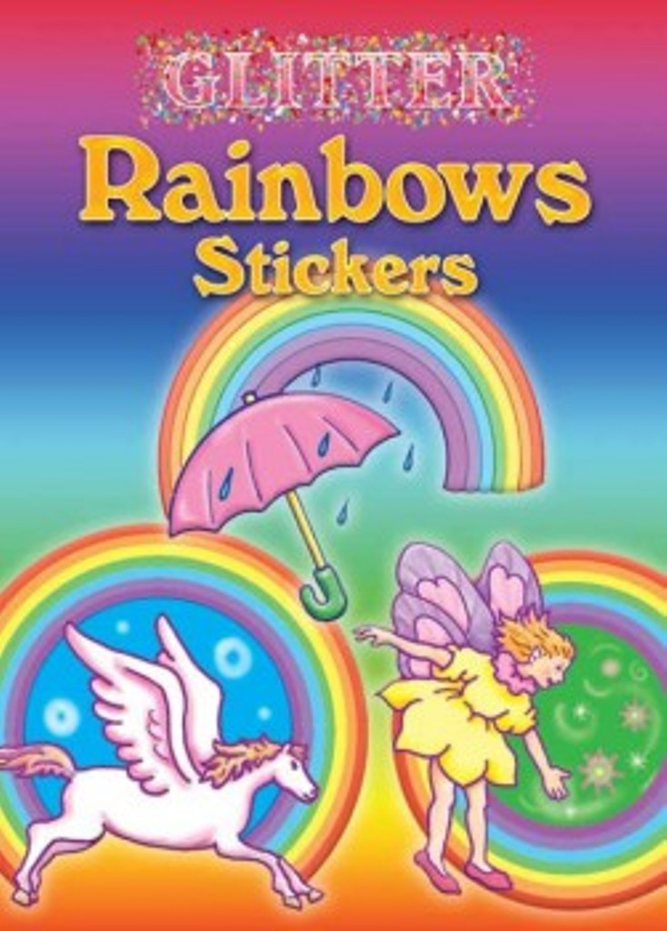 Glitter Rainbow Sticker Little Activity Book