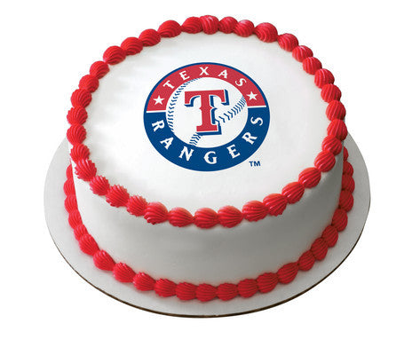 MLB Texas Rangers Edible Icing Sheet Cake Decor Topper