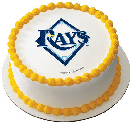 MLB Tampa Bay Rays Edible Icing Sheet Cake Decor Topper