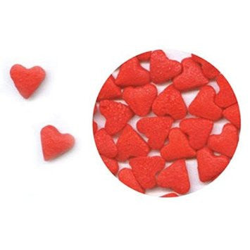 Red Heart Edible Sugar Quin Sprinkles Cake Decorations