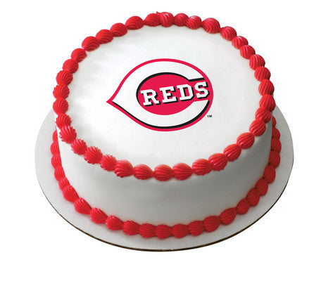 MLB Cincinnati Reds Edible Icing Sheet Cake Decor Topper