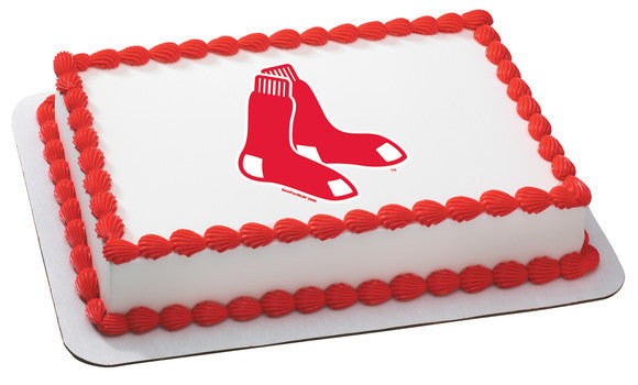 MLB Boston Red Sox Edible Icing Sheet Cake Decor Topper