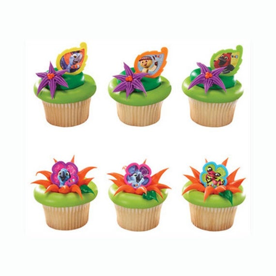 24 Rio 2 Jungle Friends Cupcake Rings Cake Decor Toppers