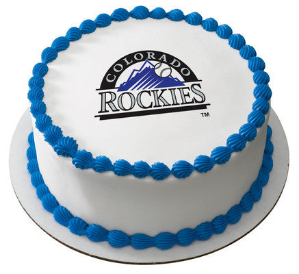 MLB Colorado Rockies Edible Icing Sheet Cake Decor Topper