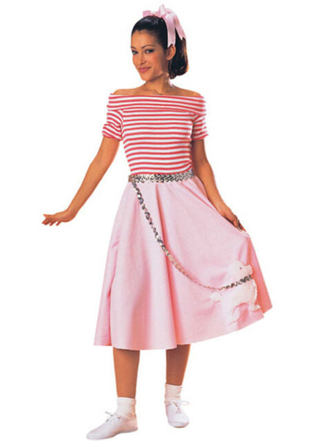 Nifty 50s Poodle Skirt Adult Costume - One Size Fits Most