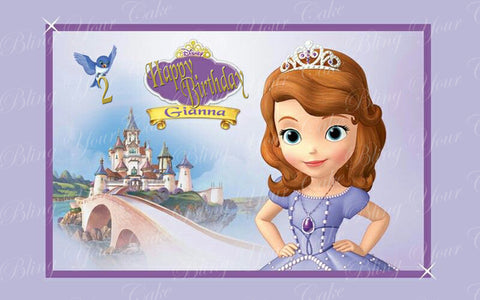 Sofia the First Edible Icing Sheet Cake Decor Topper - STF3