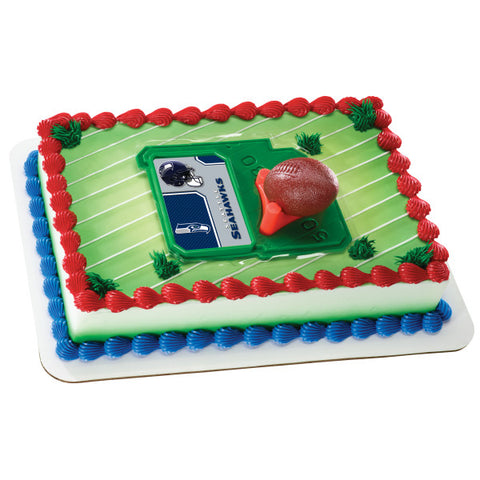 NFL Football & Tee Cake Decorating Kit Topper - Seattle Seahawks
