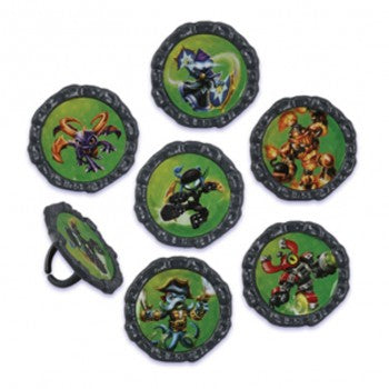 24 Skylanders Swap Force Cupcake Topper Rings