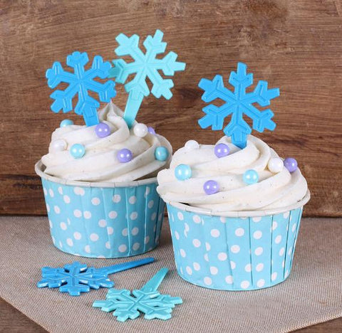24 Snowflake Cupcake Topper Picks