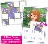 Disney Jr Princess Sofia the First Sticker Puzzle Box Sets Birthday Party Favor Game Supplies