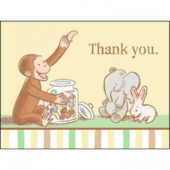 Copy of Curious George Cute and Curious Baby Thank You Notes