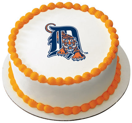 MLB Detroit Tigers Edible Icing Sheet Cake Decor Topper