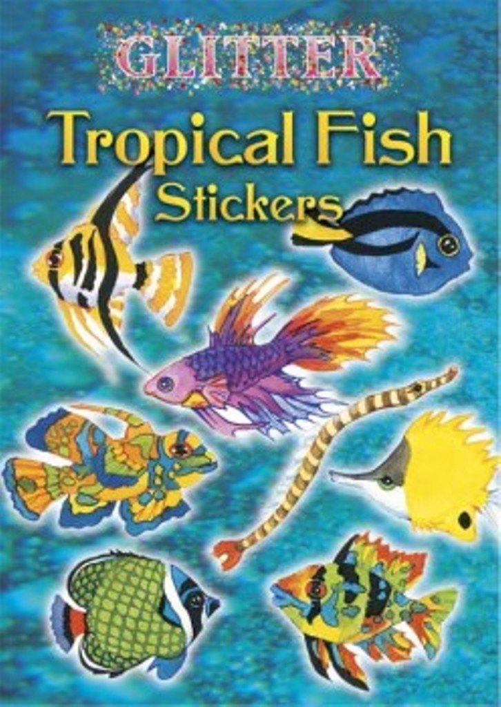 Glitter Tropical Fish Stickers Book