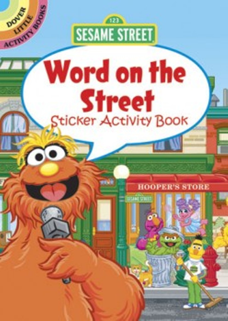Sesame Street Word on the Street Sticker Little Activity Book