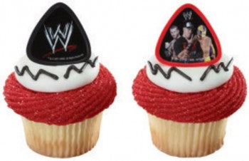 12 WWE World Wrestling Champions Cupcake Rings