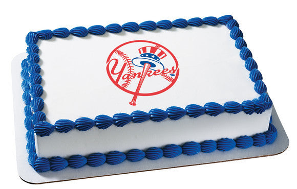 MLB New York Yankees Edible Icing Sheet Cake Decor Topper