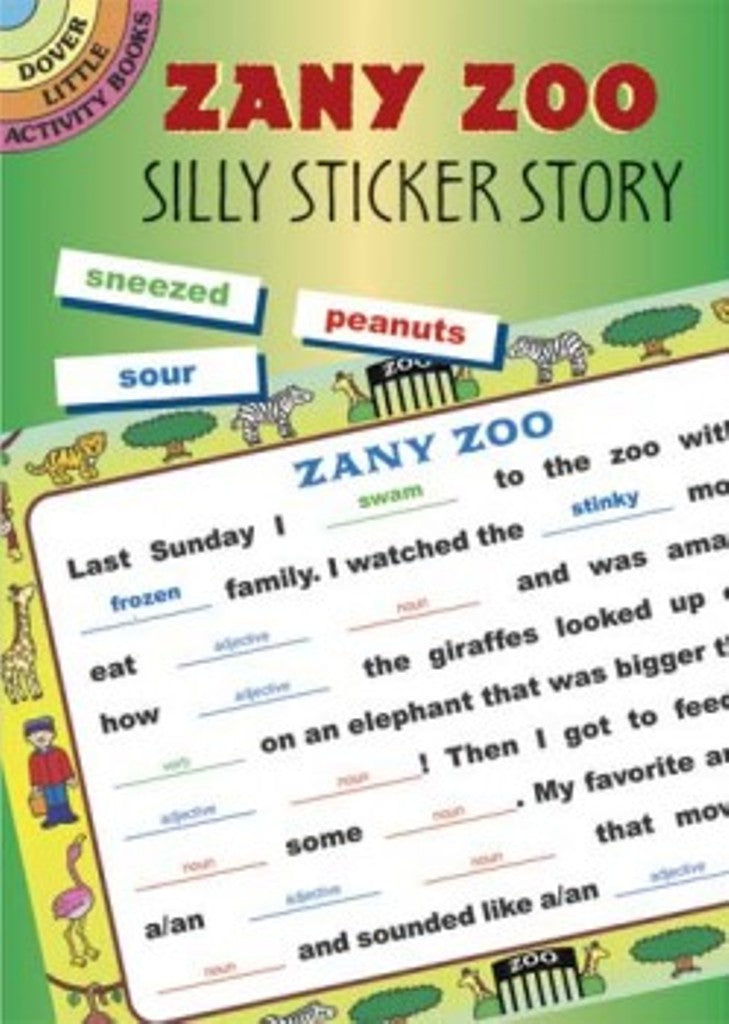 Zany Zoo Silly Sticker Little Activity Book