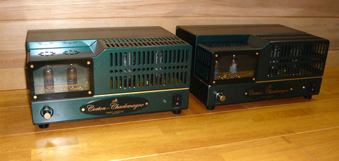 Pair Shindo Laboratory Corton-Charlemagne EL34 Monaural Block Power Amplifier