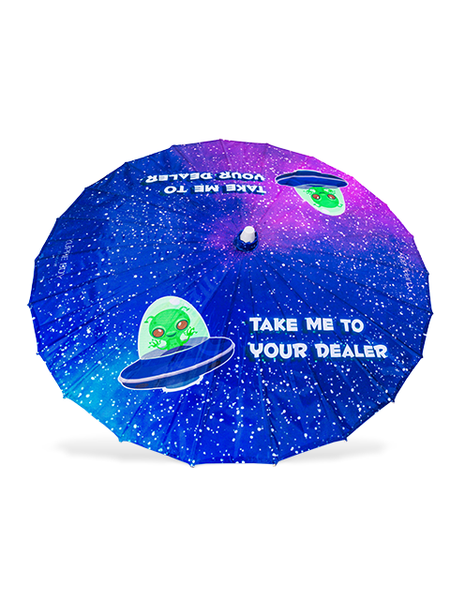 Take Me to Your Dealer Parasol - UV
