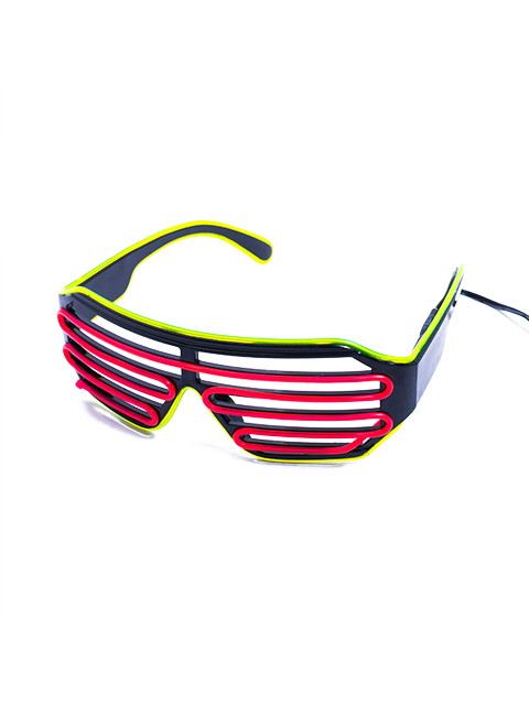 Green and Pink Vented Light Up Glasses