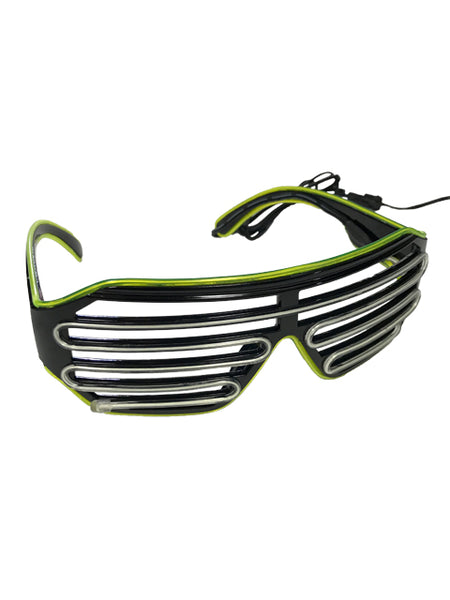 Lemon Green and Aqua Vented Light Up Glasses