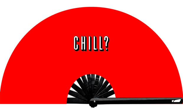 Everyone needs a Netflix & Chill buddy... Netflix and Chill Fan, from Yuppie Boy, by Wear It! Blacklight / UV responsive!  Find your party accessories for your next rave, music festival, circuit party, or night out at the club at Wear It Apparel! The only place for custom hand fans, plastic fans, bamboo fans, and metal hand fans, neon parasols, and custom parasols and the only place for neon & blacklight fans and parasols. Clack that fan away. #NowWearIt #Clackthatfan