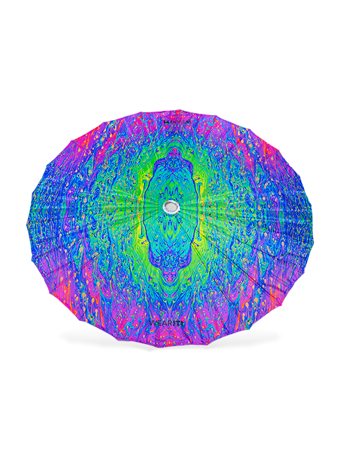 Psychedelic Paint Parasol - UV