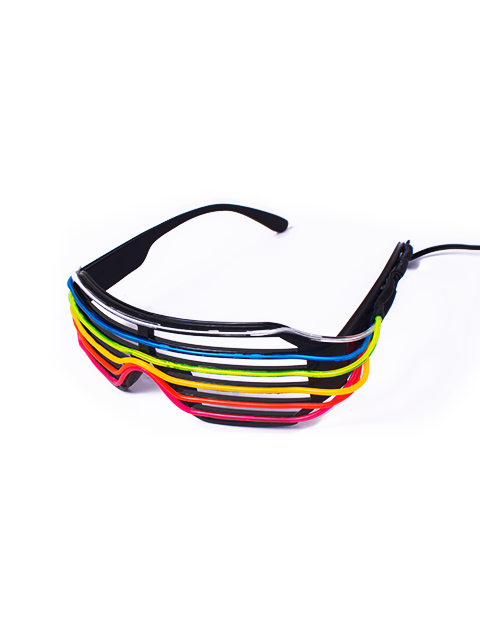 Rainbow Vented Light Up Glasses