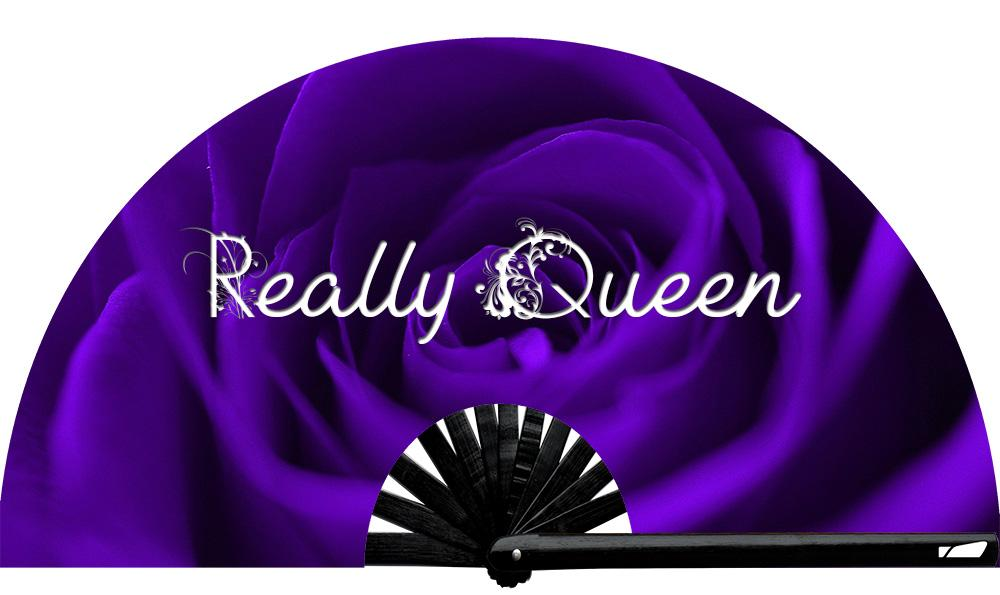 We all know that one queen....  Really Queen fan, from Yuppie Boy, by Wear It!  Blacklight / UV responsive!  Find your party accessories for your next rave, music festival, circuit party, or night out at the club at Wear It Apparel! The only place for custom hand fans, plastic, bamboo, and metal hand fans, and the only place for neon & blacklight fans #NowWearIt