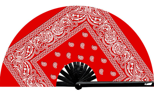 Red Handkerchief Fan - UV