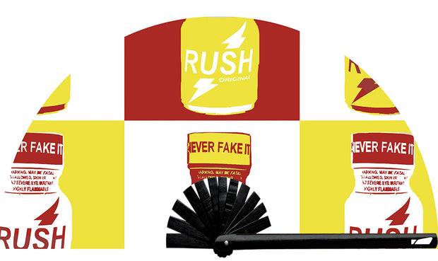 This custom fan was designed by Wear It customer Jonathan! Rush fan, from Yuppie Boy, by Wear It!  Find your party accessories for your next rave, music festival, circuit party, or night out at the club at Wear It Apparel! The only place for custom hand fans, plastic fans, bamboo fans, and metal hand fans, neon parasols, and custom parasols and the only place for neon & blacklight fans and parasols. Clack that fan away. #NowWearIt #Clackthatfan