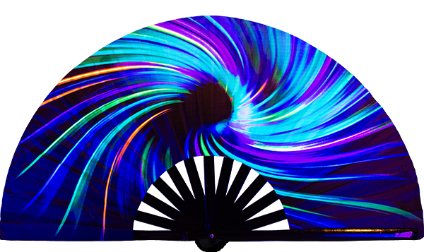 Perfect for the next rave!  Rave Neon Supernova fan, from Yuppie Boy, by Wear It!  Blacklight / UV responsive!  Find your party accessories for your next rave, music festival, circuit party, or night out at the club at Wear It Apparel! The only place for custom hand fans, plastic fans, bamboo fans, and metal hand fans, neon parasols, and custom parasols and the only place for neon & blacklight fans and parasols. Clack that fan away. #NowWearIt #Clackthatfan