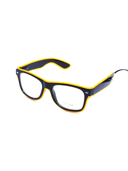 Yellow Light Up Glasses