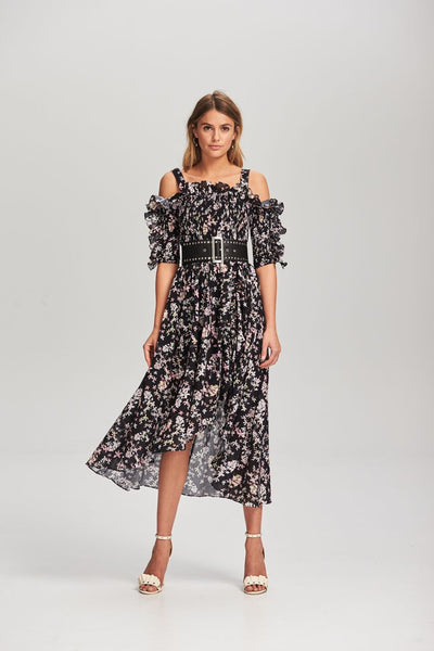 Steele - Le Bloom Shirred Dress