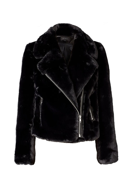 Ena Pelly - Clare Faux Biker (Black)