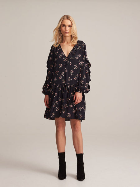 Steele - Koko Short Dress (Black Flora)