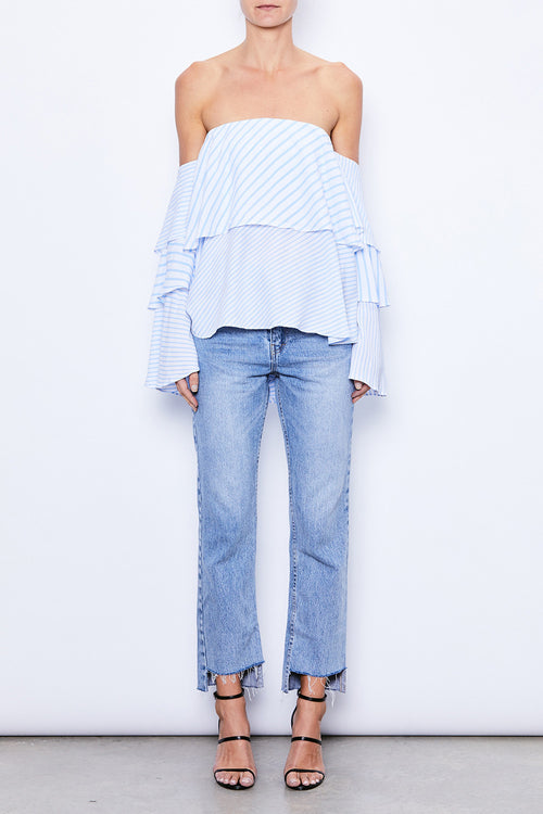 MLM - Mesa Shoulder Top (Blue Stripe)