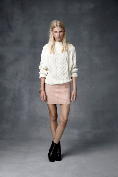 Ena Pelly - Suede Mini Skirt (Blush)