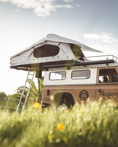 Crow's Nest Extended Rooftop Tent - Coal Black