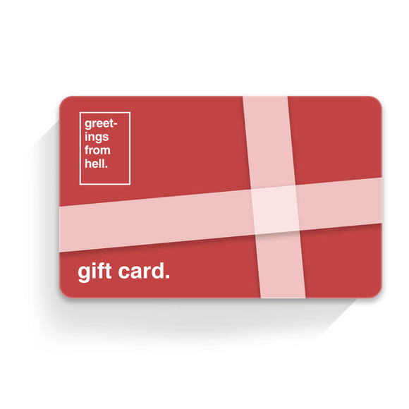 Greetings From Hell - Gift Card