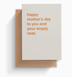 """Empty Nest"" Mother's Day Card"