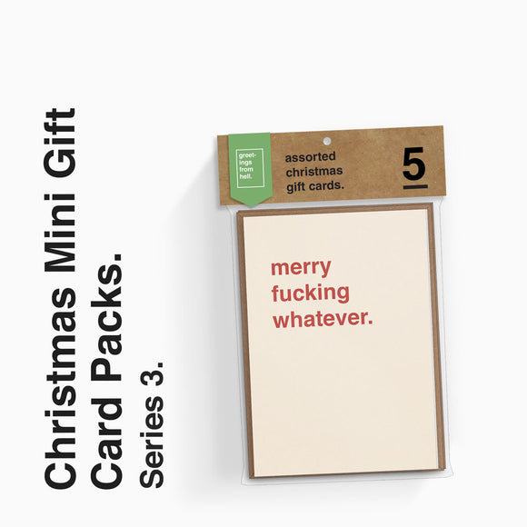Assorted Christmas Mini Gift Cards - Series 3