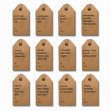 Assorted Christmas Gift Tags 12 Pack - Series 1